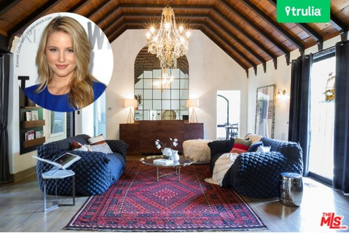 Dianna Agron House For Sale In Hollywood Hills Living Room