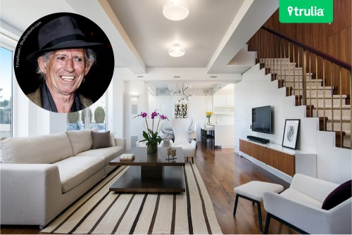 Keith Richards Home For Sale In New York Living Room