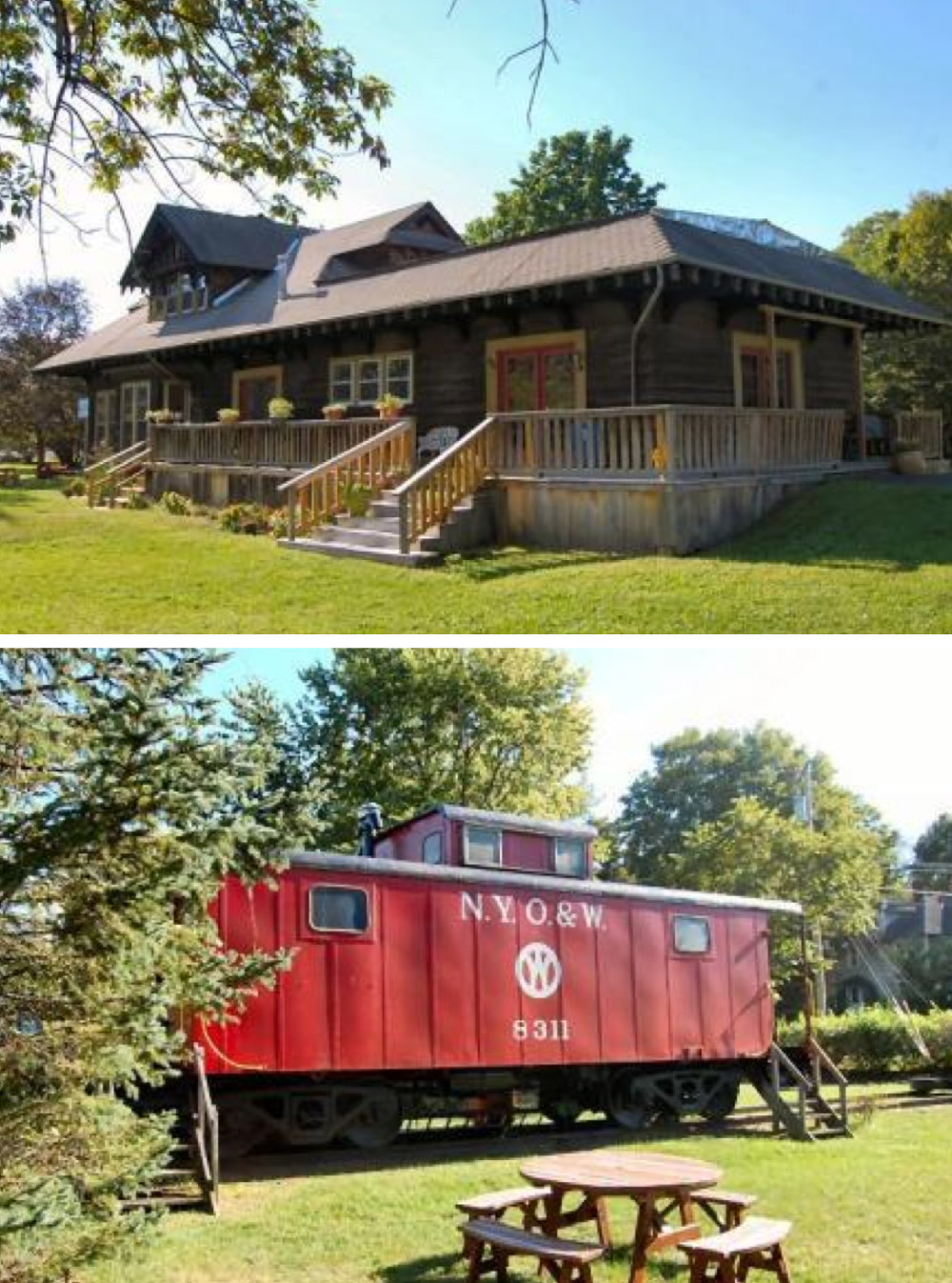 8 homes with converted train cars for sale life at home for Old house tracks