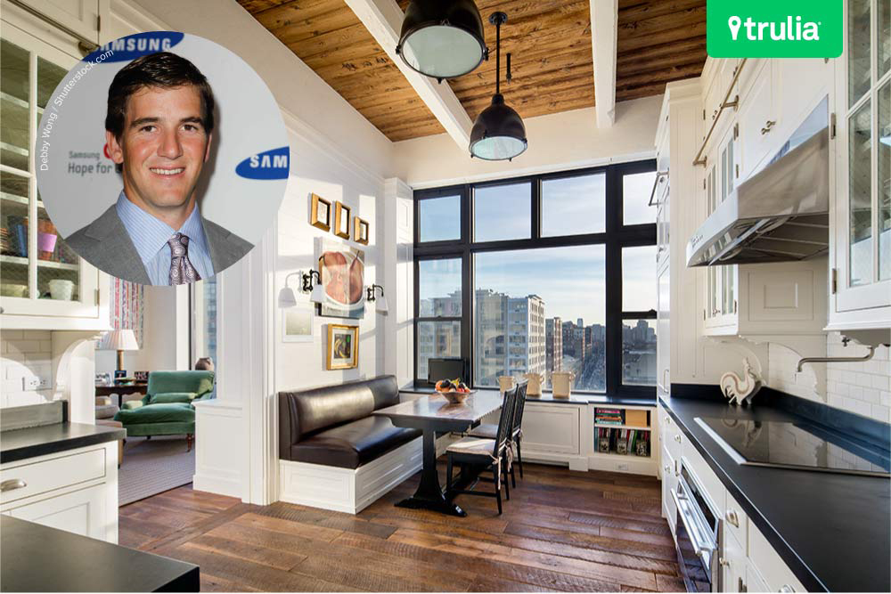 want to live in the eli manning apartment celebrity trulia blog