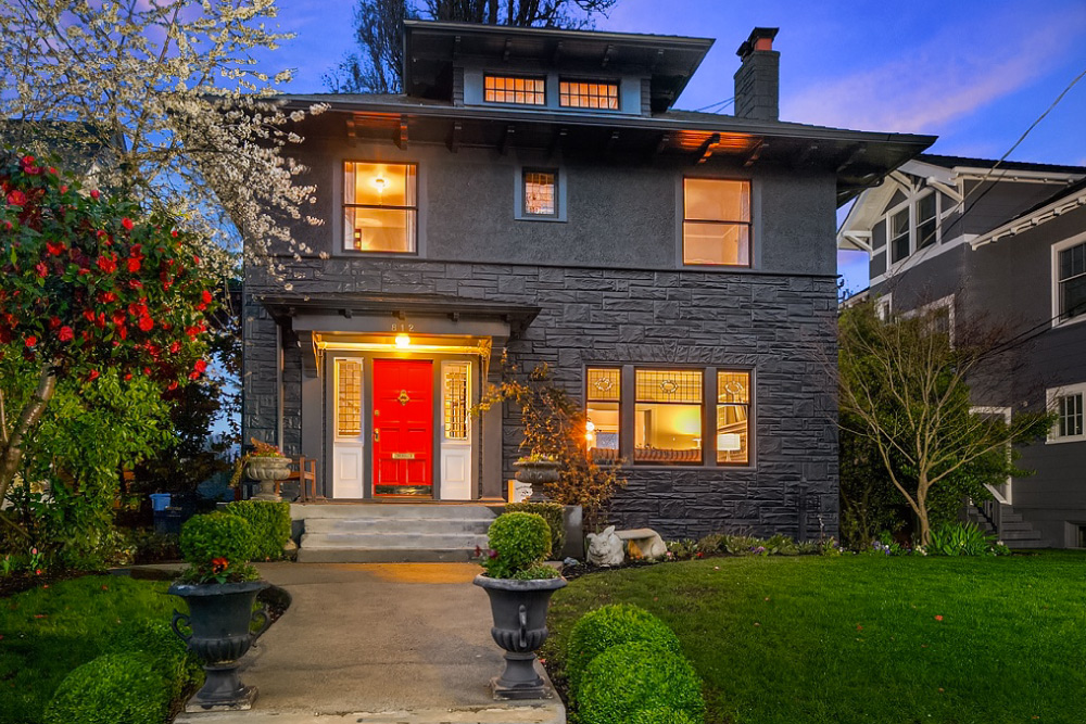 Home for sale in Seattle WA with DIY Landscape Design