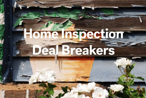 home inspection report deal breakers