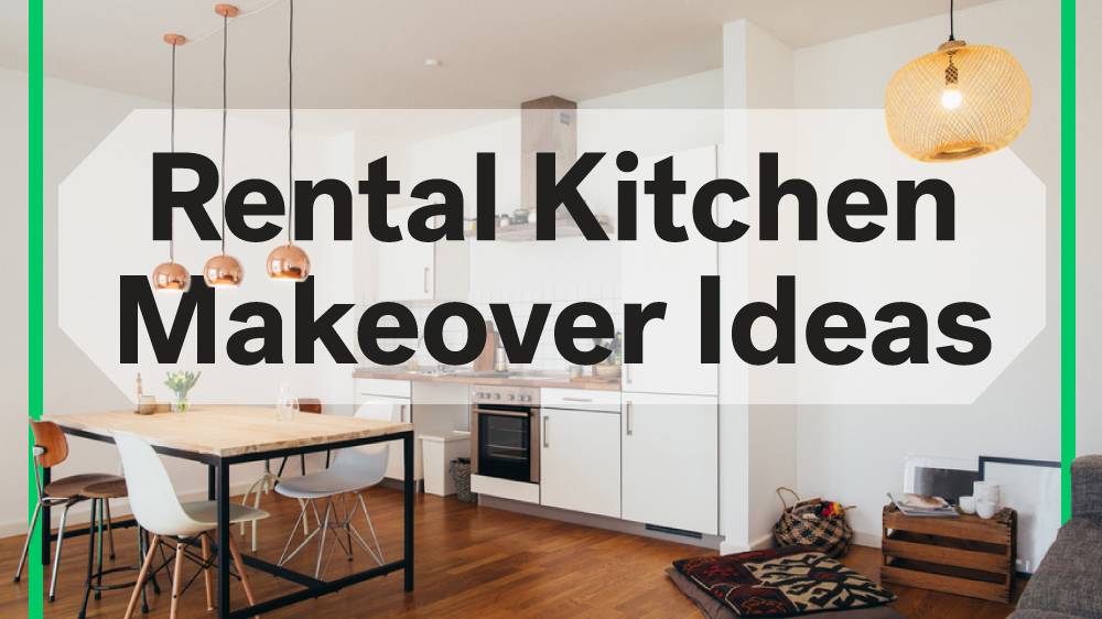 8 rental kitchen makeovers under 100 life at home for Cheap kitchen makeover ideas