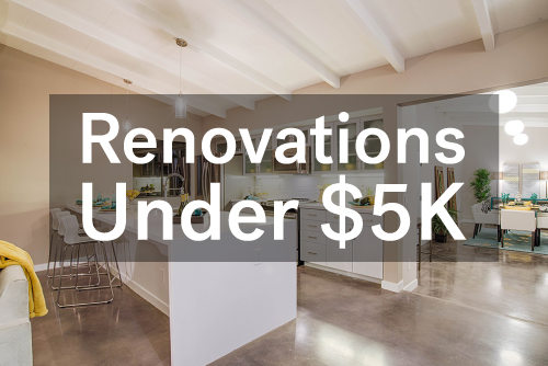 renovations under 5000