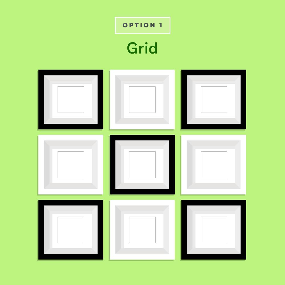 Grid Gallery Wall Ideas