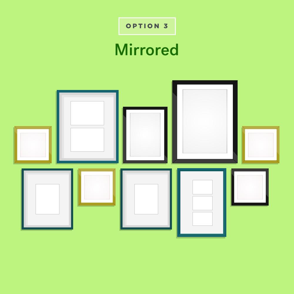 Mirrored Gallery Wall Ideas