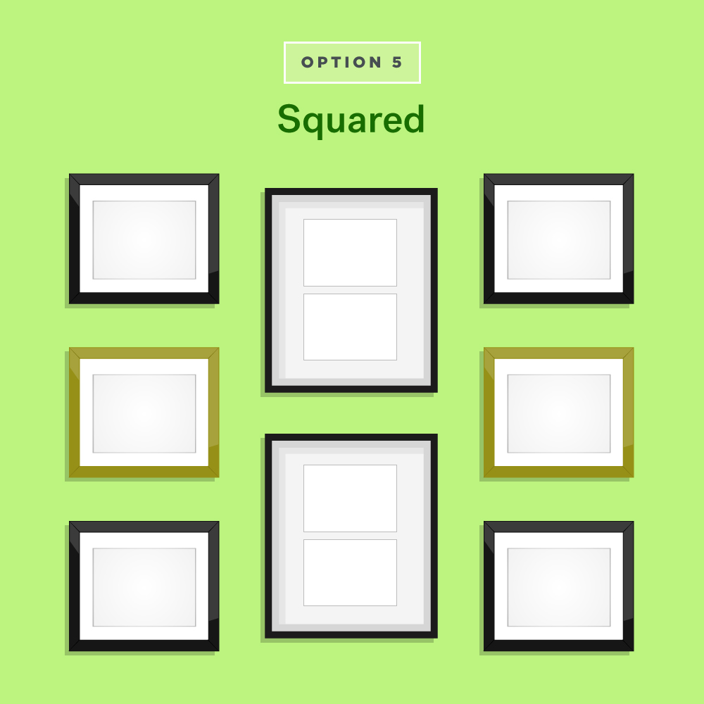 Squared Gallery Wall Ideas