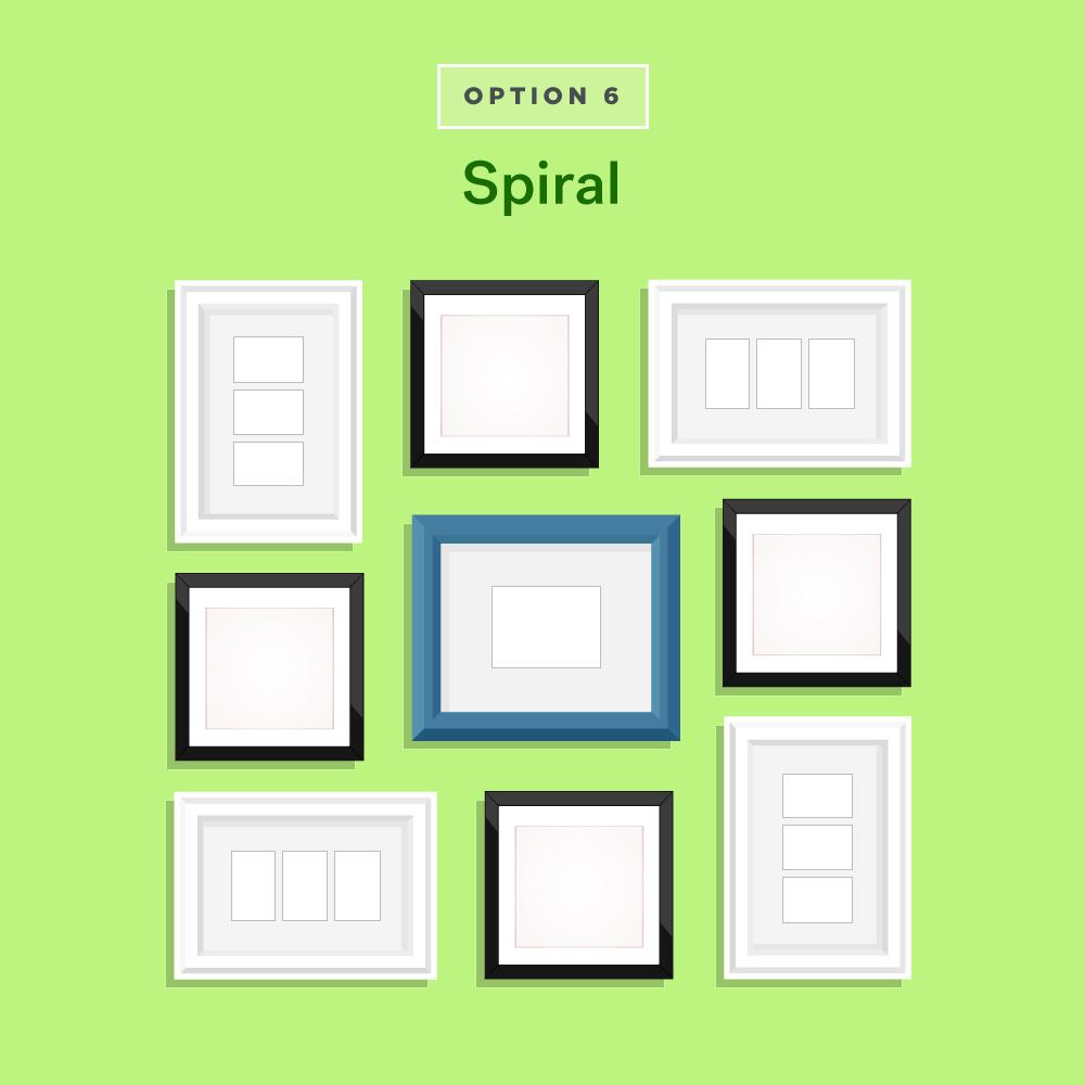 Spiral Gallery Wall Ideas