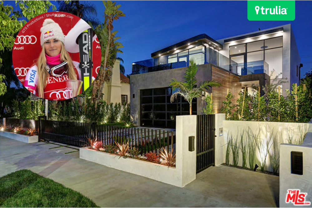 Lindsey vonn buys a new home base in west hollywood for Celebrity house tour la