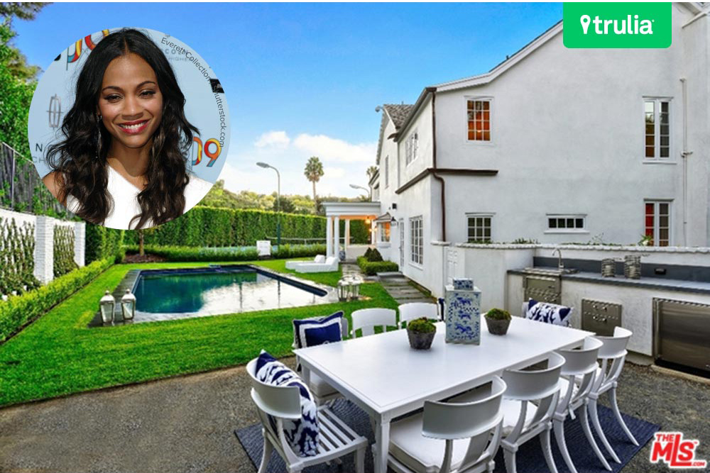 Zoe Saldana Drops 8 7 Million On A Beverly Hills Mansion
