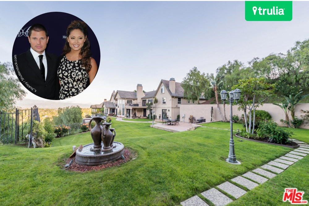Nick Lachey and Vanessa Minnillo Home In Encino CA