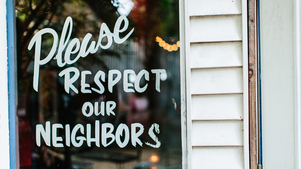 signs about annoying neighbors