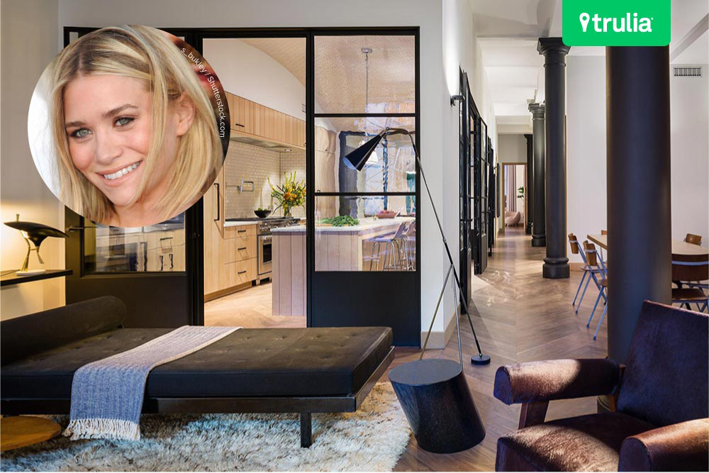 Ashley Olsen Greenwich Village Apartment Living room