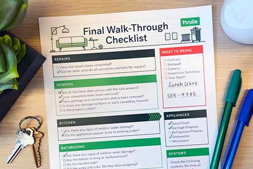 Trulia Final Walk-Through Checklist