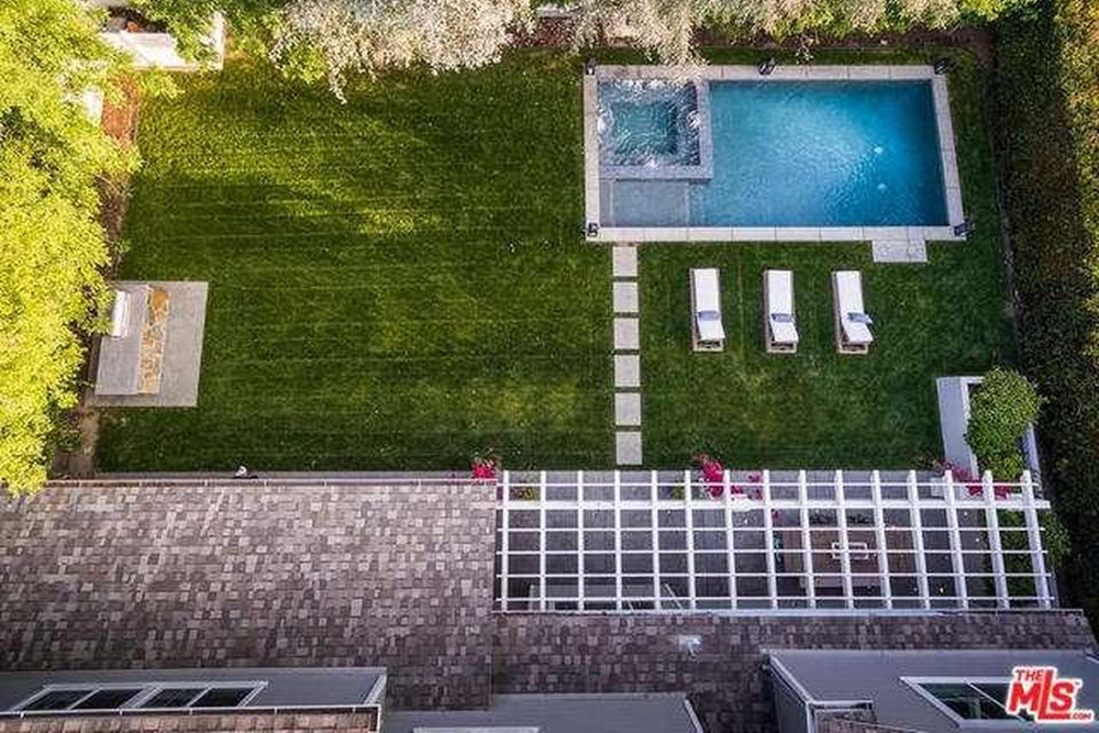 Ashley Tisdale Lists Home For Sale In Studio City CA Pool