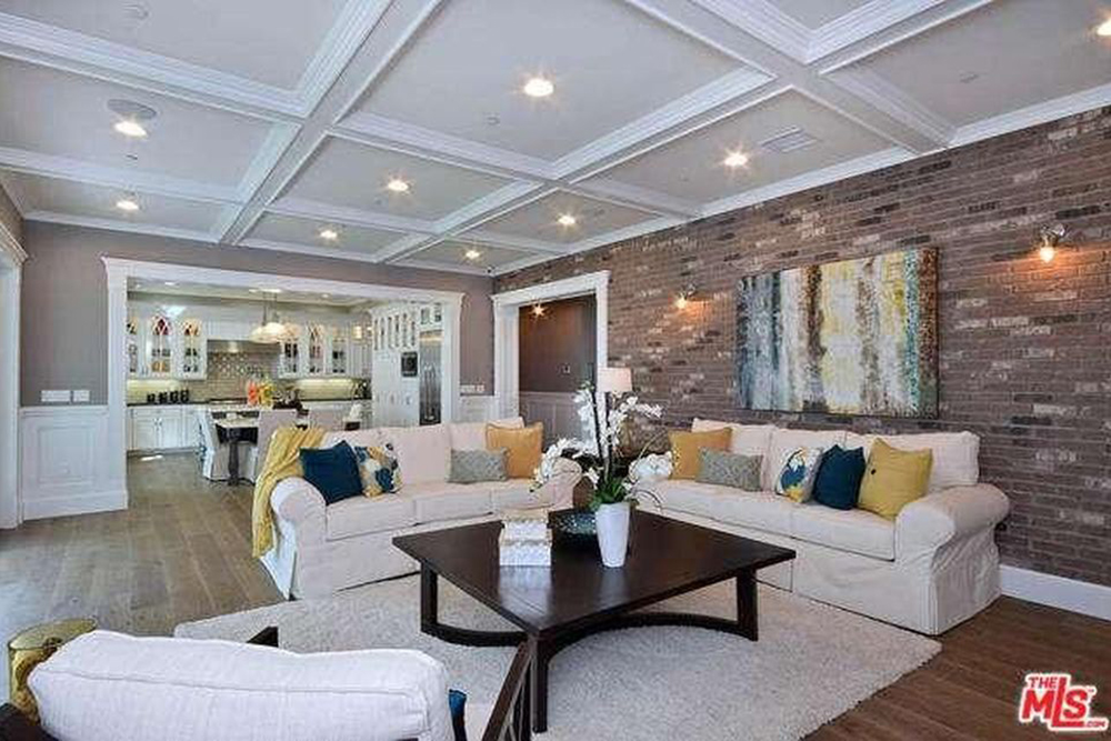 Ashley Tisdale Lists Home For Sale In Studio City CA Living Room