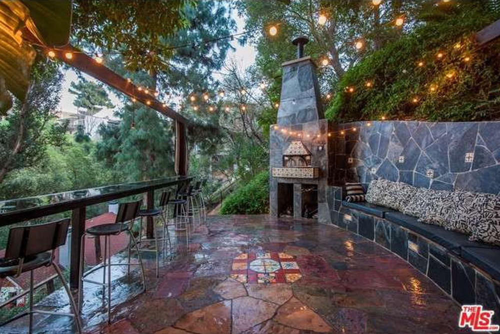 The Chainsmokers Alex Pall Buys In LA outdoor fireplace