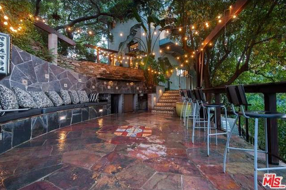 The Chainsmokers Alex Pall Buys In LA stone patio