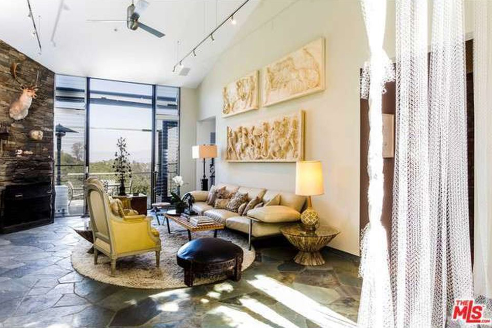 The Chainsmokers Alex Pall Buys In LA fireplace