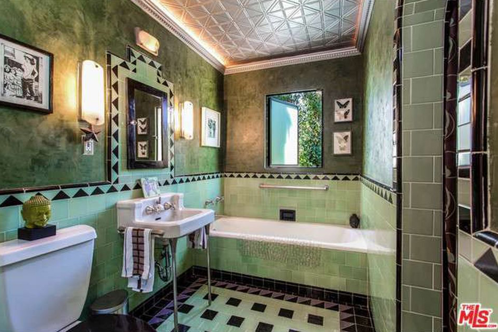 The Chainsmokers Alex Pall Buys In LA green bathroom
