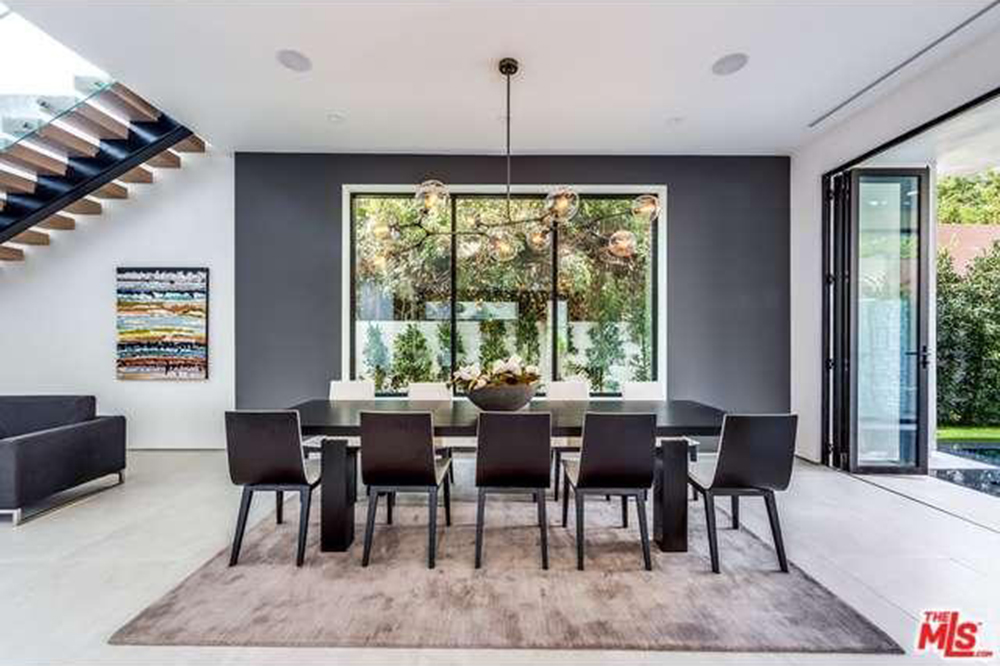 The Chainsmokers Drew Taggart Buys House In Los Angeles CA Dining Room