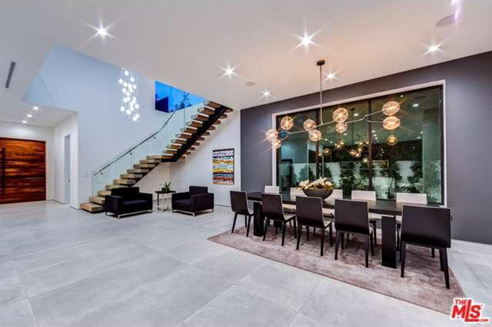 The Chainsmokers Drew Taggart Buys House In Los Angeles CA Dining Room and Foyer