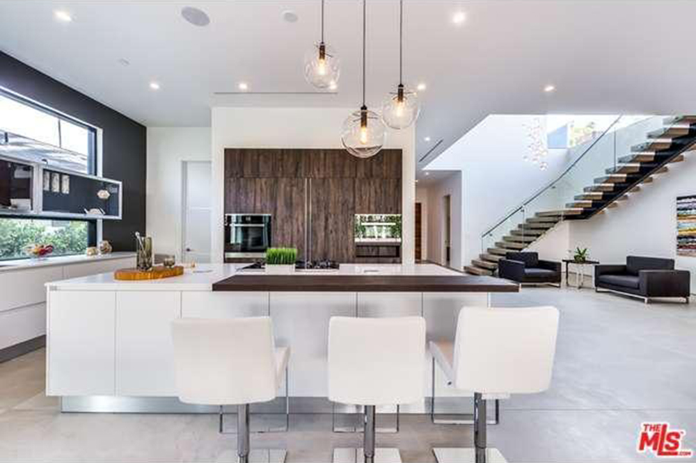 The Chainsmokers Drew Taggart Buys House In Los Angeles CA Kitchen Bar