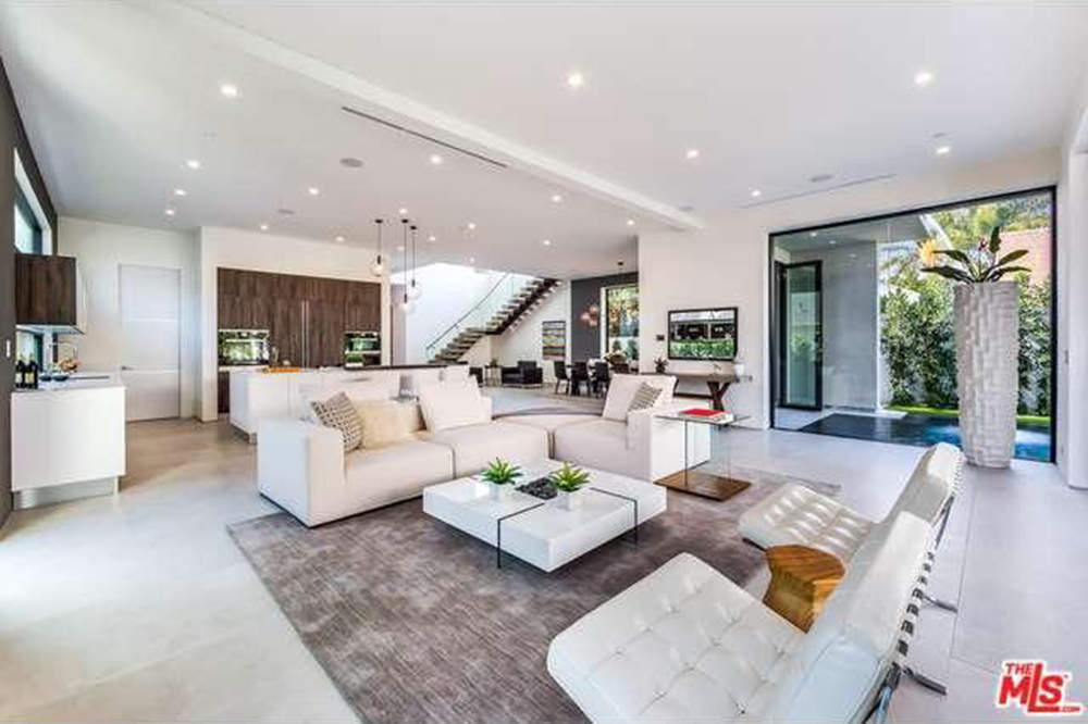 The Chainsmokers Drew Taggart Buys House In Los Angeles CA Open Living Room