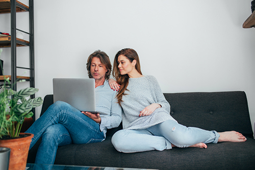 man and woman considering debt consolidation loan