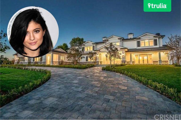 Kylie Jenner House In Hidden Hills CA Exterior