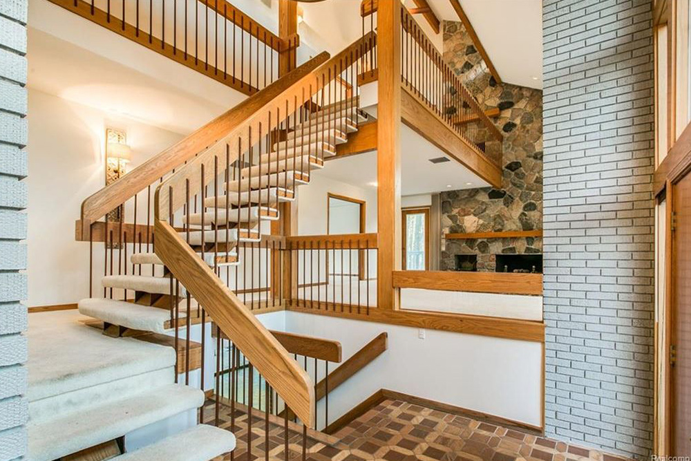 architecture styles wooden staircase