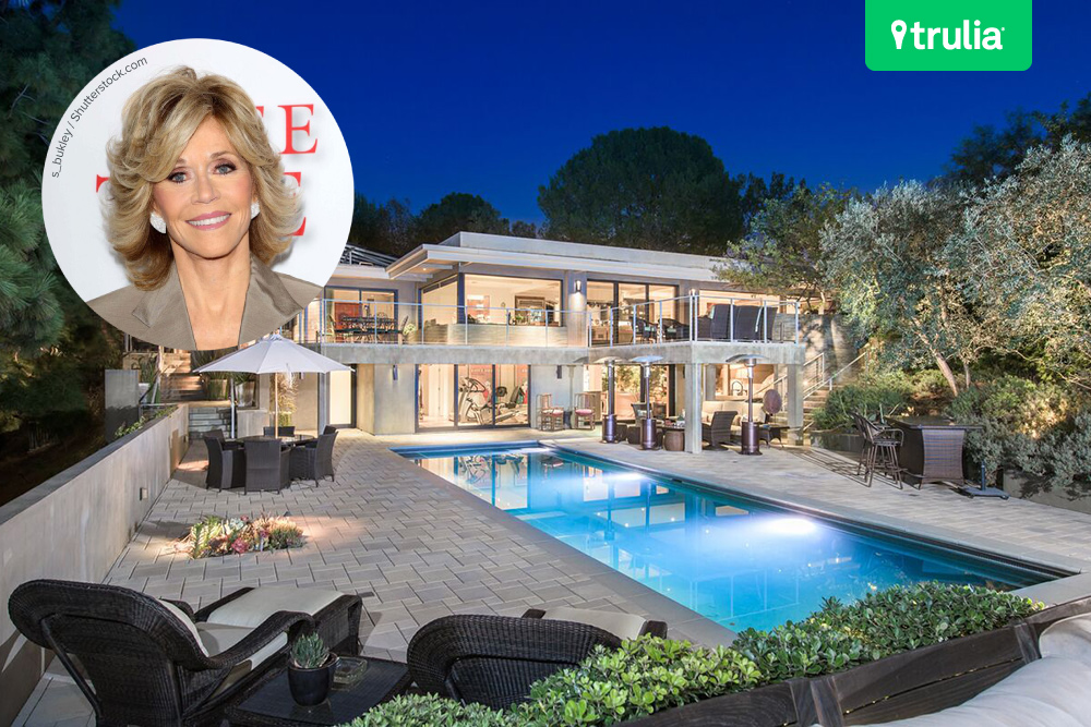 Jane fonda 39 s beverly hills mansion hits the market for Famous homes in beverly hills