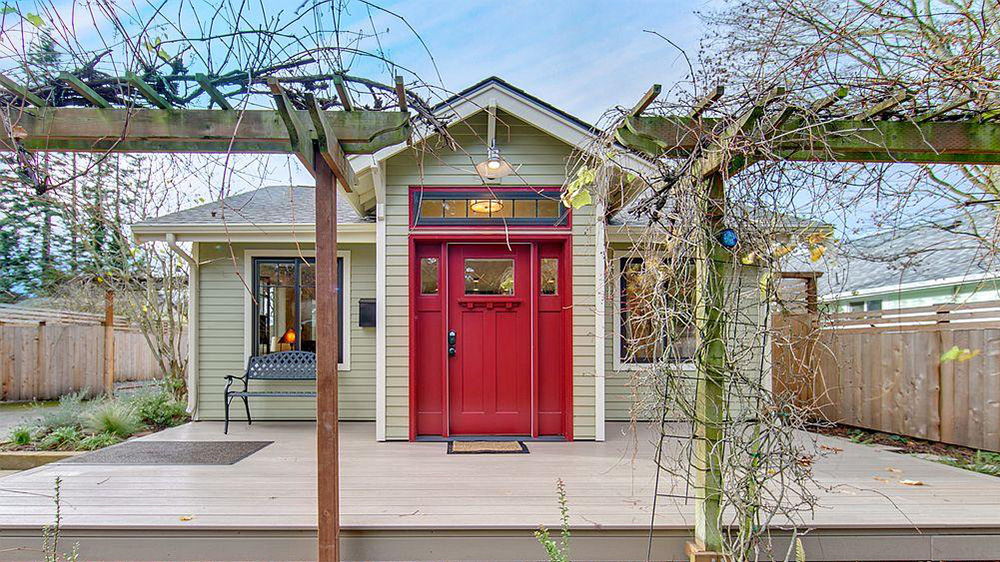 Red Entry Door In Home For Bellingham Wa