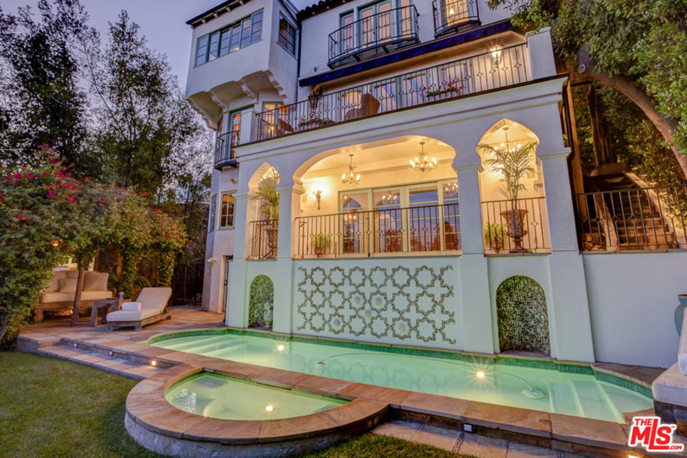 Gerard Butler Los Angeles CA House For Rent Pool