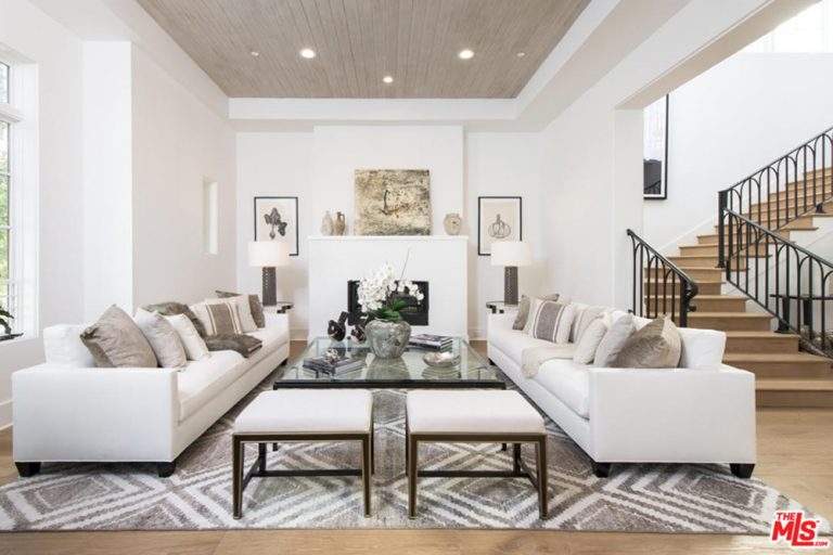 Jane Fonda Net Worth Townhouse Century City CA Living room