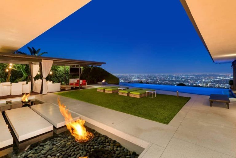 Matthew Perry Hollywood Hills Nighttime Views