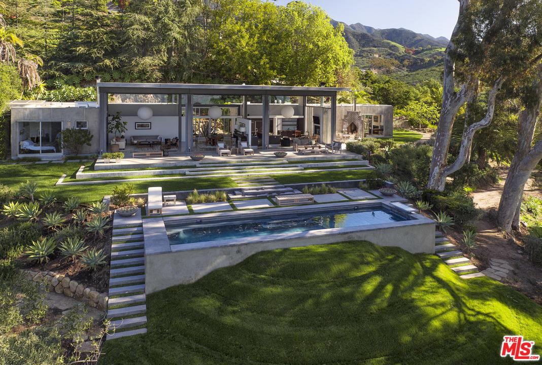 Natalie Portman Home in Montecito Exterior