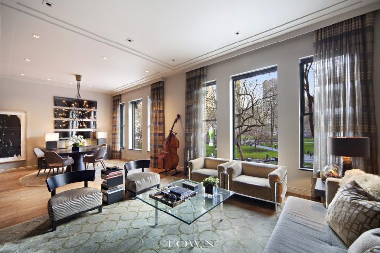 Lester Holt Lists Flatiron Apartment Living Room