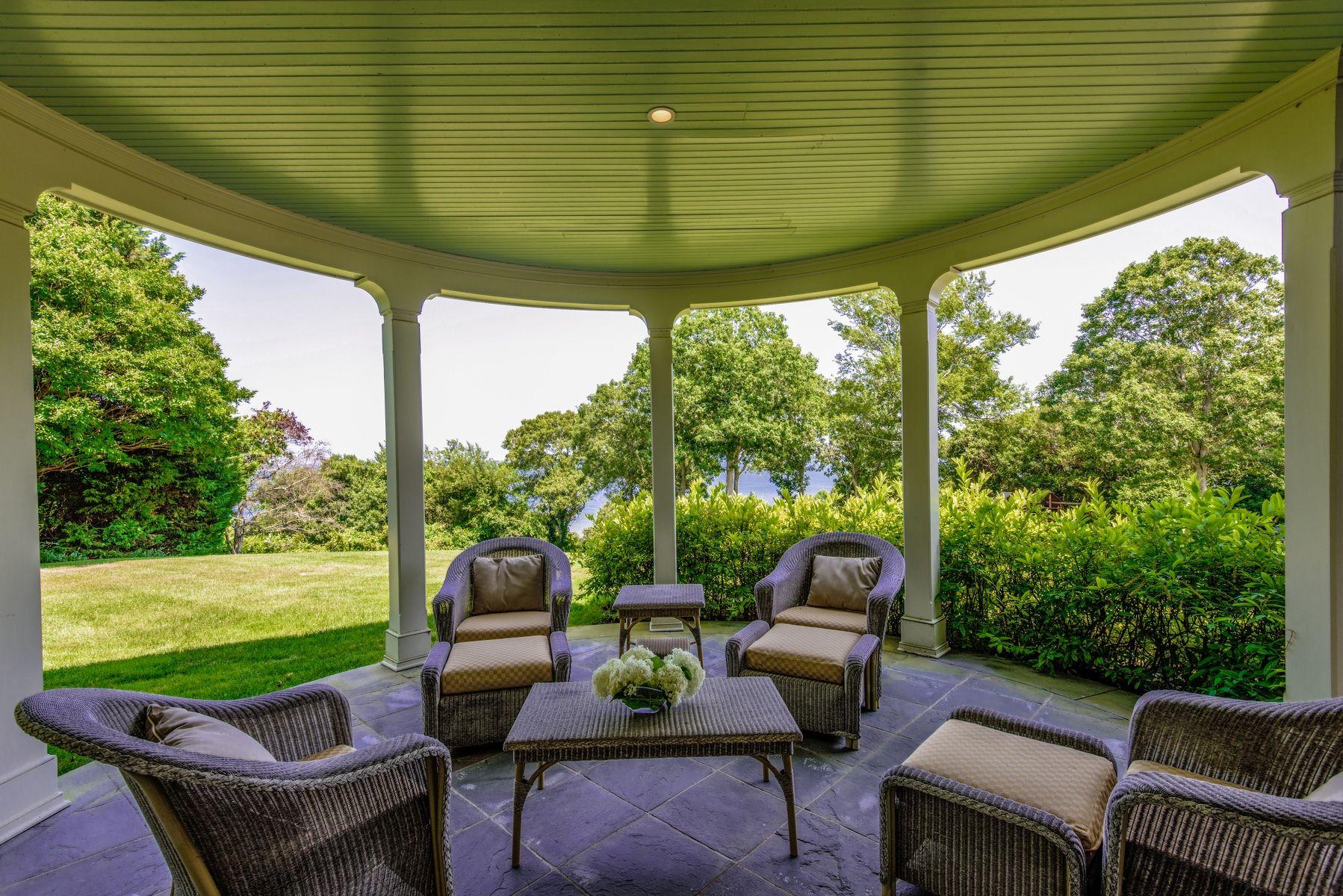 harvey weinstein lists hamptons home porch