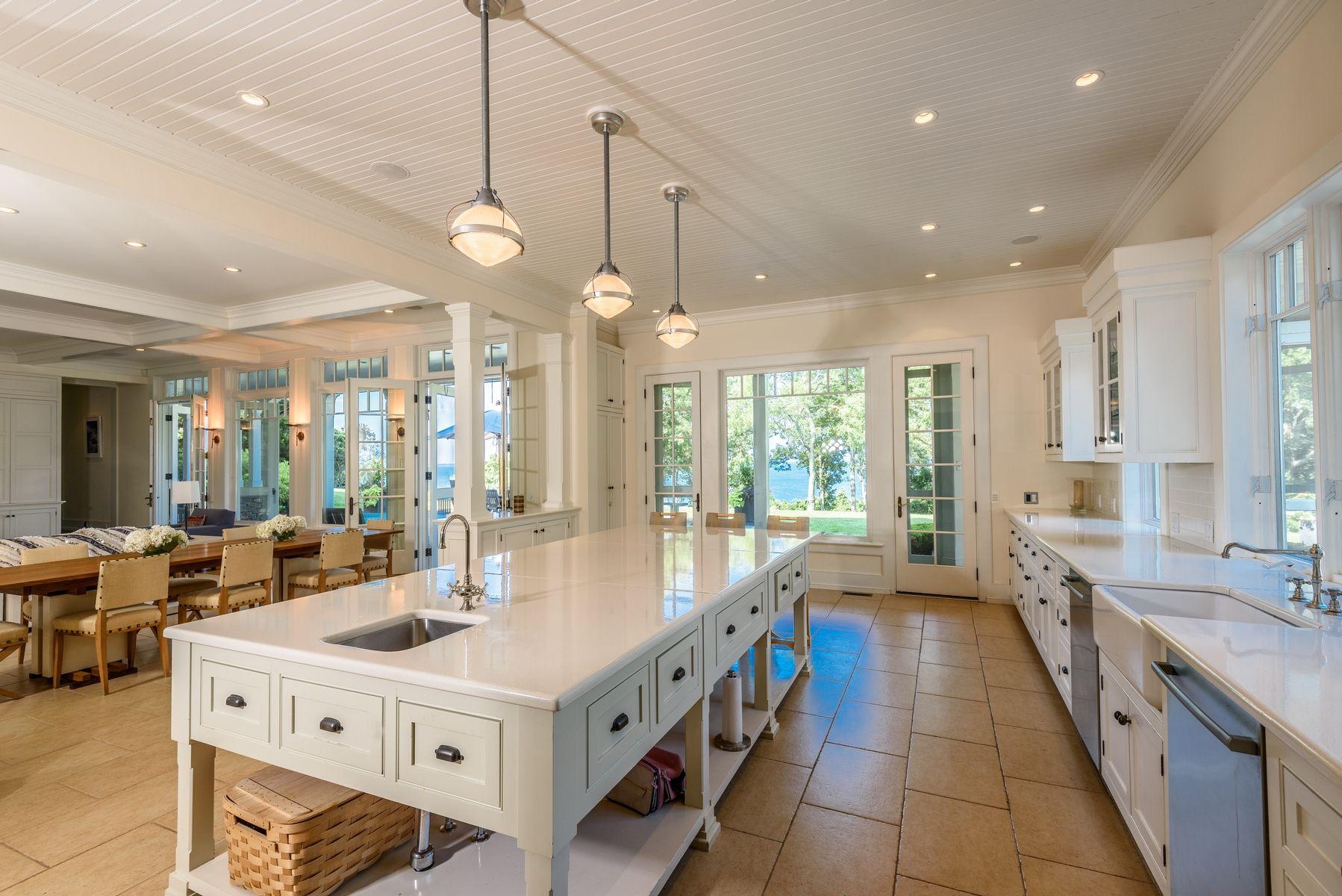 harvey weinstein lists hamptons home kitchen