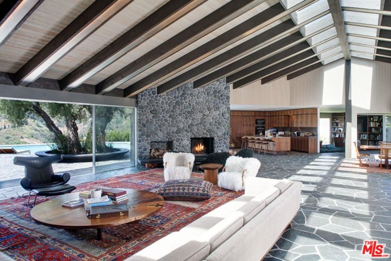john mayer buys adam levine's beverly hills home for 13.4m living room