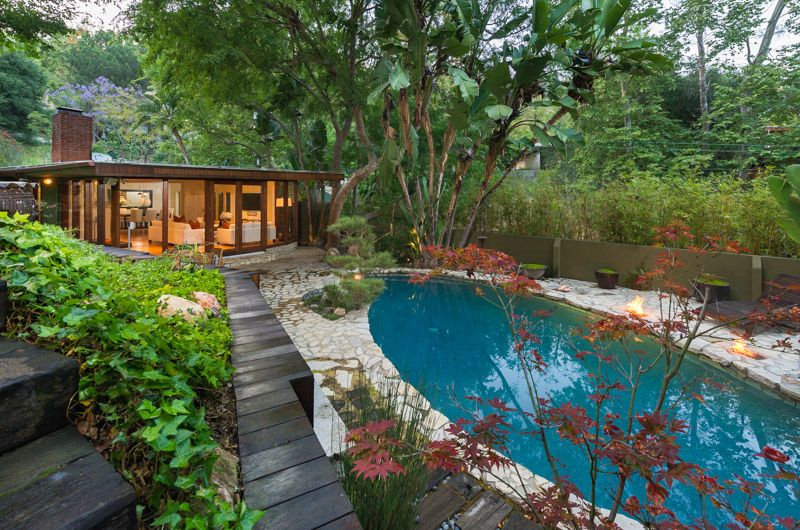 anna faris lists her hollywood hills home for $2.5 million pool