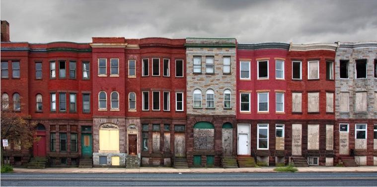 Baltimore rowhouses