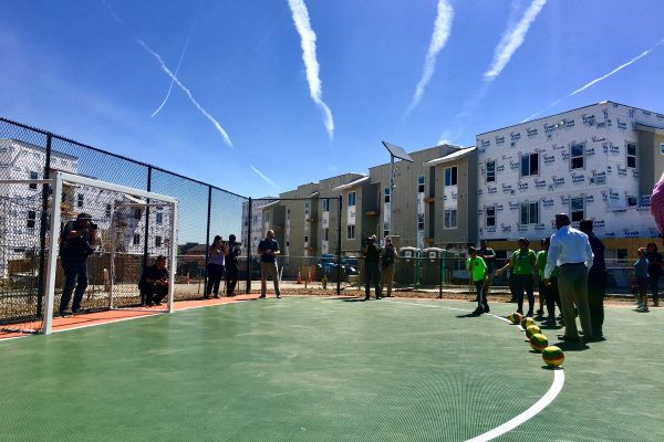 Park grand opening in Westwood neighborhood of Denver, Colorado