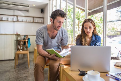 man and woman learning how much their home is worth