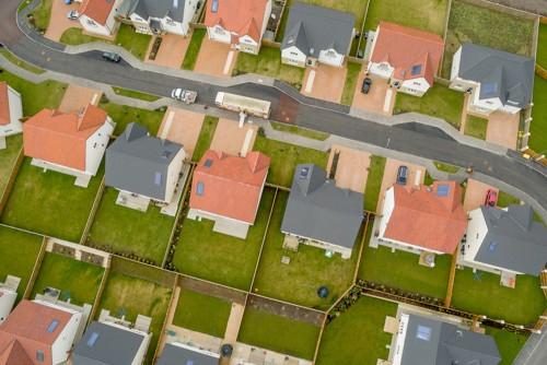 HOA and CC&R neighborhood aerial view
